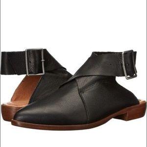 Free People Black Bryce Wrap Boot